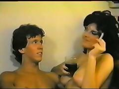Sexy MILF seduces son's friend- vintage porn video