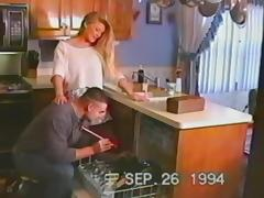 Vintage Mature, Couple, Horny, Housewife, Kitchen, Mature
