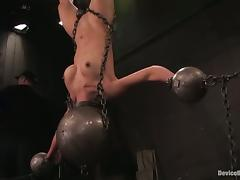 Tia Ling gets hang up head down in stunning BDSM clip