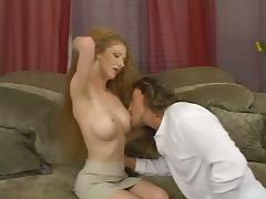Long-haired blonde bitch gets her hairy twat pounded hard