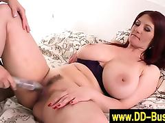 Natural big titted lesbians toying