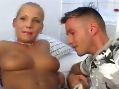 Ponytailed Euro Hotties Get Spread and Fucked by Lucky Guys!