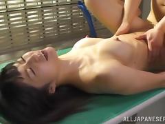 Hot Japanese slut gets fucked on the desk