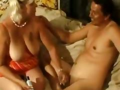 Horny Mature Blonde Gives Great Blowjob To Her Husband