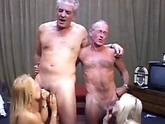Alluring blondes are banging in their shaved pussies