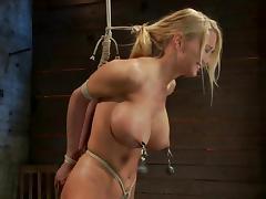 Luscious blondie is lured to the BDSM underworld