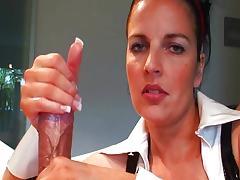 Nurse, Couple, Cum, Cumshot, Handjob, Masturbation