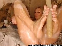 Blonde With Cream And Amazing Squirt