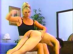 Hard femdom hand spanking
