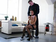 Romana Ryder Superb babe in fishnets gets fucked nicely