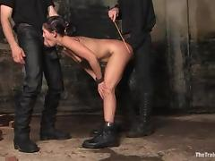 Slim Jade Indica sucks dicks and gets nailed in BDSM vid