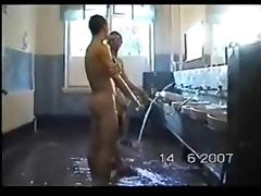 russian solders in the shower