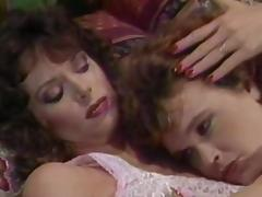 Vintage scene with two curly moms porn video