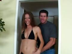 Bikini, Anal, Bikini, Blowjob, Couple, Cum in Mouth