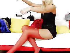 Nylon whore Bella Morgan sexing in panty-hose