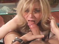 Blonde mature seduced young boy
