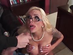 Nina Elle POV titfuck, blowjob & big facial cumshot