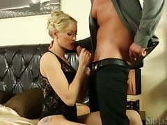 Victoria Red gets her pussy fingered before jumping on a cock