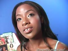Gorgeous Ebony Babe With Stunning Body Gets Fucked From Gloryholes Rod