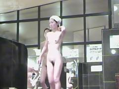 All the beauty of horny Asian tits in the shower room 03007