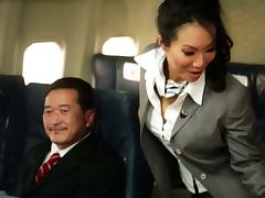 Kinky Flight Hostesses In Amazing Airplane Group Sex