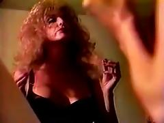 Retro video with curly MILF getting double penetrated porn video