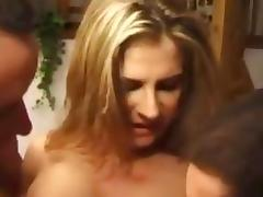 French Threesome and the genitals drill the holes