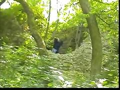 Granny Witch Fucks in the Woods