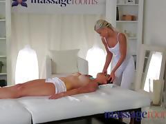 Young horny lesbians enjoy dirty sex and a big orgasm