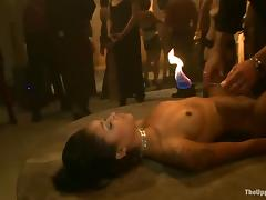 Lilla Katt gets fucked by a few people during a BDSM orgy