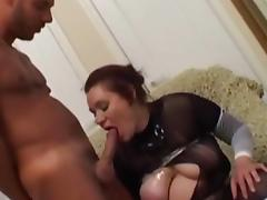 Mature mom is having her big tits teased nicely