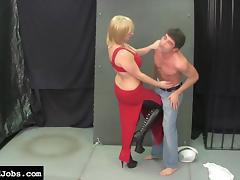 Sexy Blonde Love to Knee Balls