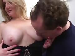 Beautiful BBW  fucked  by two cocks
