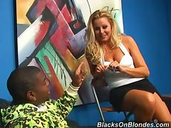 Playful White girl gets toyed and fucked in an office porn video