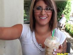 Incredible Britney Sanders Wearing Sexy Glasses Gets Fucked Outdoors
