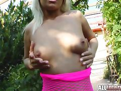 Crazy Blonde Girl Gets Fucked By Two Guys in a Threesome