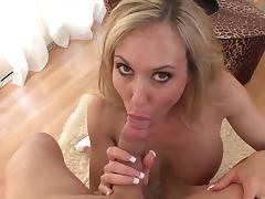 MILF Brandi Love shows off her blowjob skills porn video
