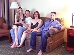Bedroom, Amateur, Bedroom, Foursome, Friend, Girlfriend