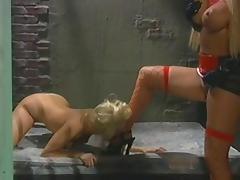 Hot lesbian prison threesome