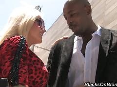 Goddess Tattooed Blonde Helly Mae Hellfire Fucks With Black Dude
