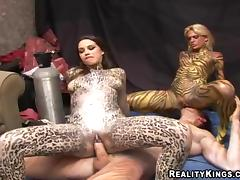 Body Painting, Babe, Funny, Reality, Body Painting, Shaved Pussy