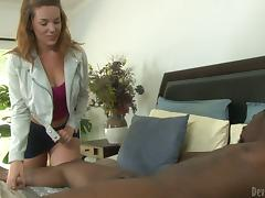 Lizzie Tucker allows a black stud destroy her shaved pussy