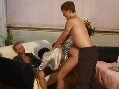 Two delicious chicks crammed by a young guy