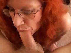 Mature, handjob, blowjob, cums tits