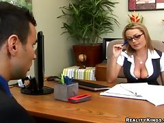 All, Big Tits, Couple, Glasses, MILF, Office