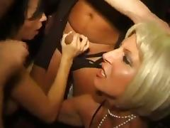 Amateur swinger orgy at the club