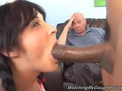 All, Blowjob, Couple, Interracial, Dad, Daddy