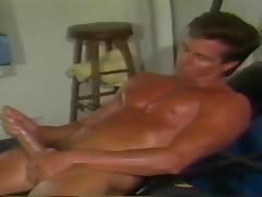 Peter North Massive Self Facial after Jacking off.