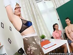Two russian college chicks share their mature professor