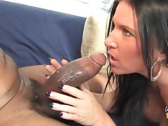 All, Brunette, Couple, Interracial, MILF, Sofa